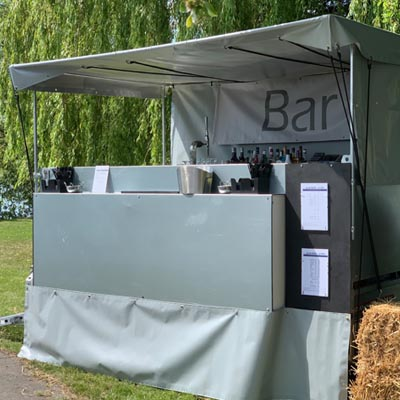 Mobile Trailer Bar For Outdoor Events
